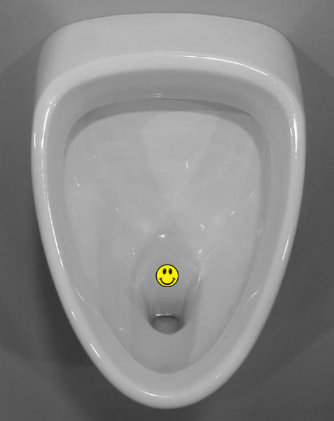 Urinal / Pissoir Sticker - Smiley